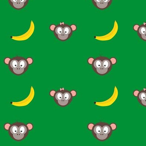 Cute monkeys with bananas