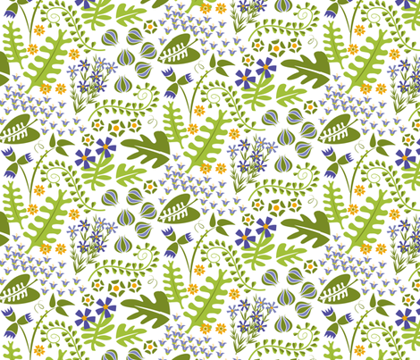 Spring Herbs fabric by lynnbishopdesign on Spoonflower - custom fabric