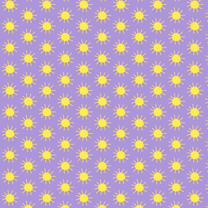 Suns in Yellow and Lavender