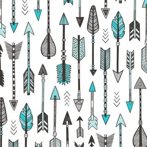 Arrows in Aqua Blue