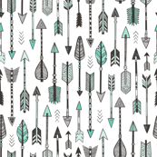 Arrows in Mint Green