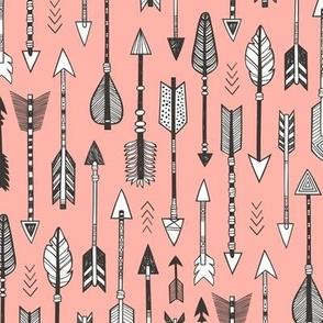 Arrows on Peach