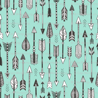 Arrows on Mint Green