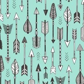 Arrows on Mint Green