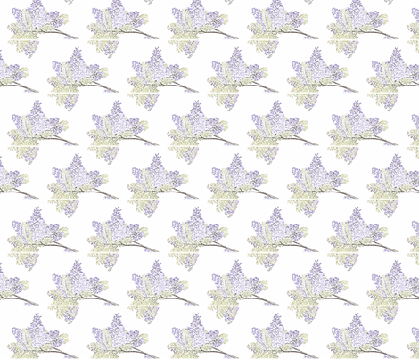 Jacaranda Drawing 1 fabric by lindyturner7 on Spoonflower - custom fabric