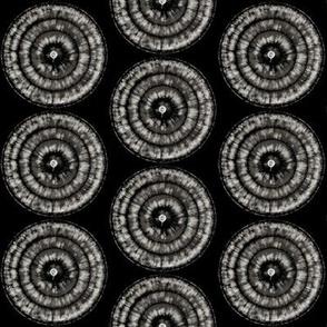 black & white medallions