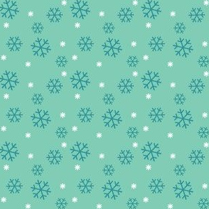 Winter Snowflakes Teal