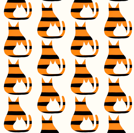 Cat Kitten Tiger Stripes fabric by eve_catt_art on Spoonflower - custom fabric