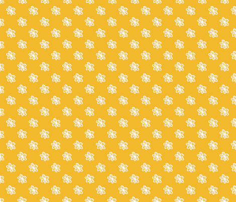 Boho_Chic_Flower_Honey fabric by kds_designs on Spoonflower - custom fabric