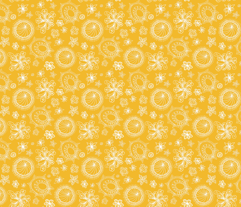 Boho_Chic_Honey fabric by kds_designs on Spoonflower - custom fabric
