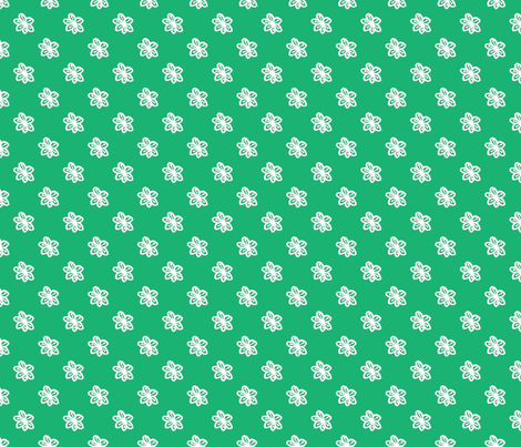 Boho_Mod_Flower_Emerald fabric by kds_designs on Spoonflower - custom fabric