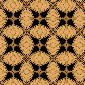 Gold and Black Abstract