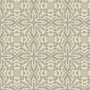 Floral Geometric in Gray