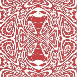 Red and White Fluid Abstract