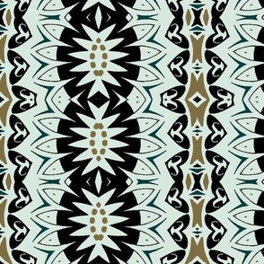 Modern Tribal in Black and Green