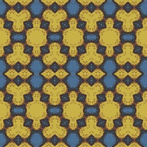 Fuzzy Abstract in Yellow and Blue