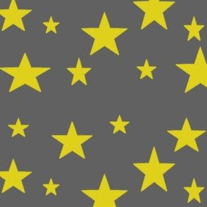Gold stars on Gray