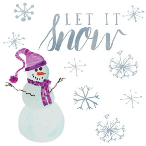 Let it Snow Art Panel