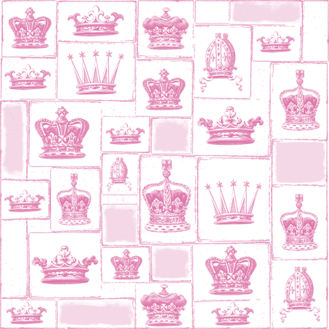 Crowns in sorbet fabric by lilyoake on Spoonflower - custom fabric