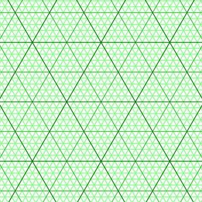 triangle graph : emerald green