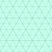 triangle graph : jade green