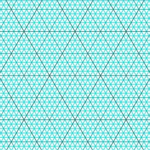 triangle graph : cyan teal