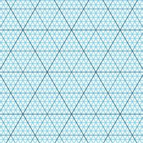 triangle graph : azure blue