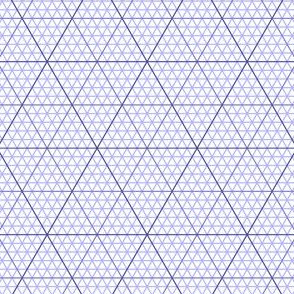 triangle graph : lavender blue