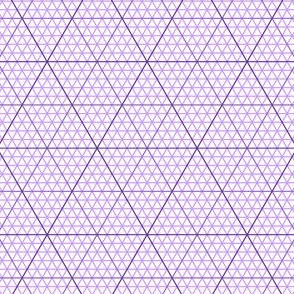 triangle graph : violet mauve