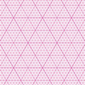 triangle graph : pink