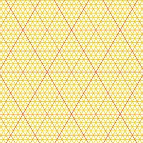 triangle graph : yellow orange