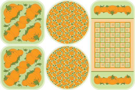 Pumpkin Patch Trivets fabric by jjtrends on Spoonflower - custom fabric