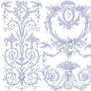 Capetian Toile in blue violet