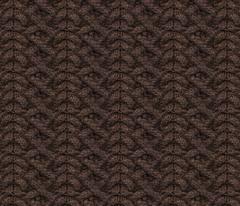 Brown Haka Cable Knit fabric by leethal on Spoonflower - custom fabric