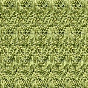 Green Zig-Zag Knit