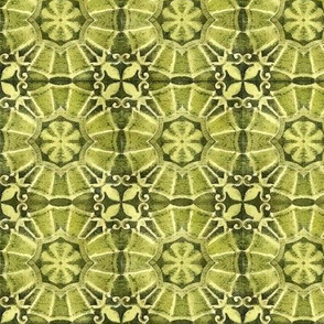 Antique Green Tile Design