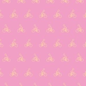 Cyclist on pink