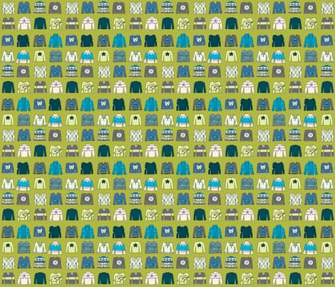 Winter Woolies (BlueGreen coordinate) fabric by seesawboomerang on Spoonflower - custom fabric