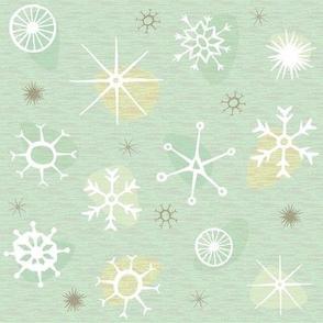 Atomic Style Snowflakes (mint)