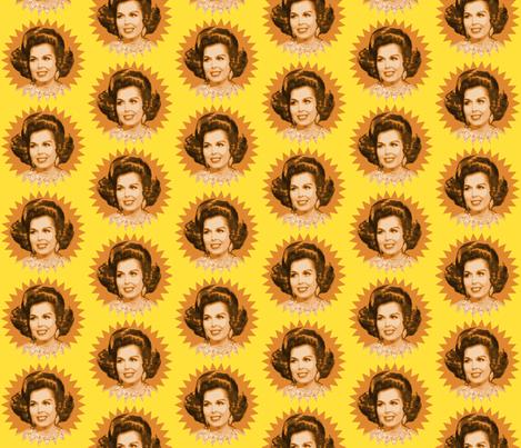 Ann Miller's Hair fabric by hollywood_royalty on Spoonflower - custom fabric
