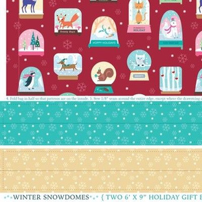 Winter Snowdomes Gift Bags 6x9
