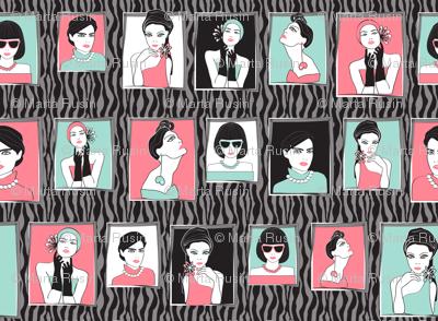 fashion portraits black zebra