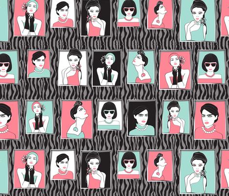fashion portraits black zebra fabric by kociara on Spoonflower - custom fabric