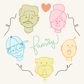 Colorful Family Portrait