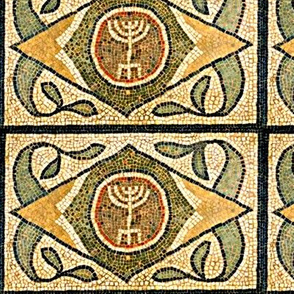 Ancient Menorah Tile -Medium Scale