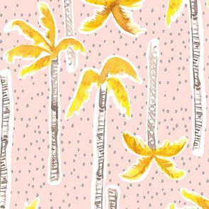 Tropicana Palms (gold/pink)