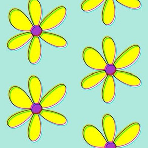Dean's Yellow Daisies With Offset Colors