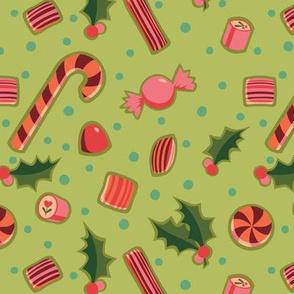 Christmas Candy on Lime