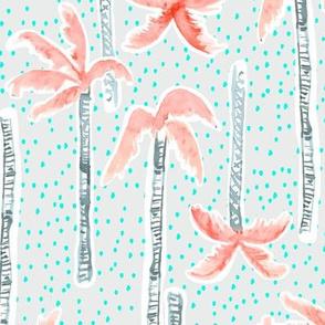 Tropicana Palms (pink/aqua)