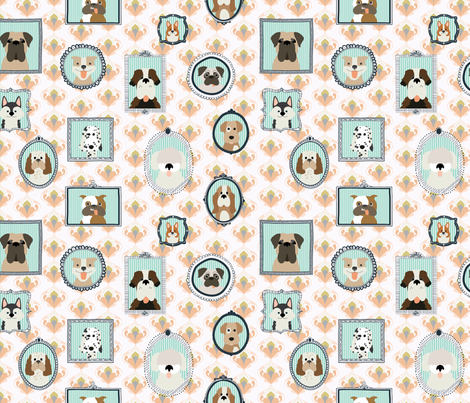 Family Dog House fabric by hey_there_louise on Spoonflower - custom fabric